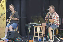 Image of Bob Christensen & Mark Dodge at Art by the Bay on Camano Island, July 2005